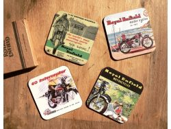 Royal Enfield Untersetzer Bierdeckel 4er Set Coaster