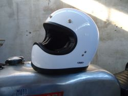 Integralhelm White Retro Cross Integralhelm