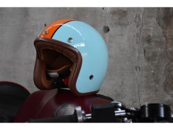 Jethelm RB 764 ECE 22-05 hellblau orange Gulf